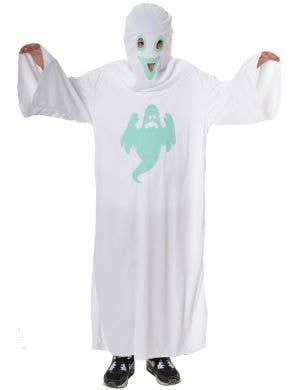 Glow in the Dark Kid's White Ghost Robe Halloween Costume