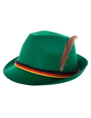 Green Bavarian Oktoberfest Costume Hat
