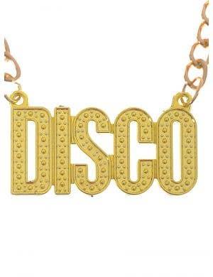 1970's Gold Chain Disco Costume Necklace