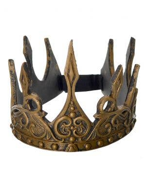Antique Gold Medieval Queen Foam Crown Costume Accessory