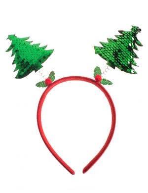 Green Sequin Christmas Tree Headband