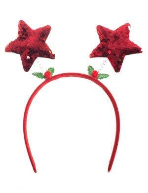 Red Sequin Star Christmas Headband
