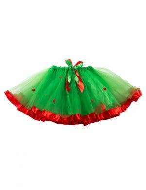 Womens Red and Green Christmas Tutu