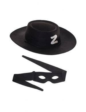 Zorro Hat and Mask Kids Costume Kit