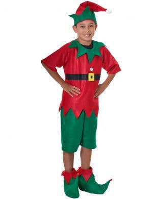 Boys Elf Costume with Hat and Shoe Covers Dress Up Costume Set