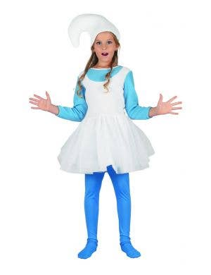 Woodland Blue Elf Girls Storybook Fancy Dress Costume