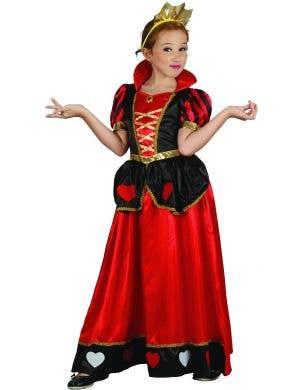 Queen of Heart Girl's Fancy Dress Costume
