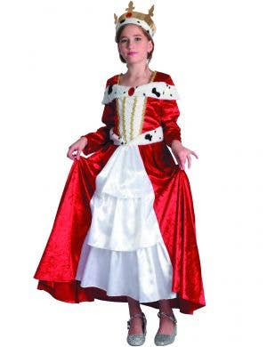 Girls Reds Velvet Renaissance Queen Costume