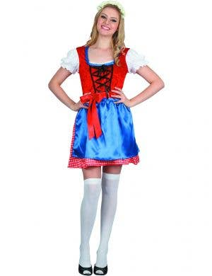 Red and Blue Oktoberfest Costume for Women