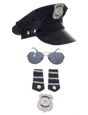 Police Officer's Fancy Dress Costume Accessory Kit