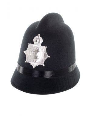 Black London Bobby Policeman Costume Hat Main Image