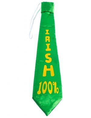 Green and Yellow St Patrick's Day Satin Irish 100 percent Tie On Elastic Costume Accessory