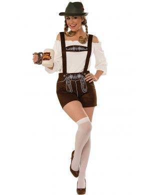 German Lederhosen Women's Oktoberfest Fancy Dress Costume