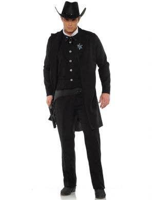 Sheriff Men's Black Wild West Dress Up Costume