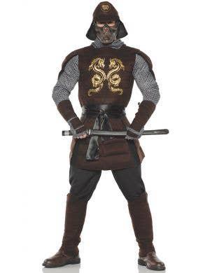 Men's Deluxe Dragon Samurai Warrior Fancy Dress Costume