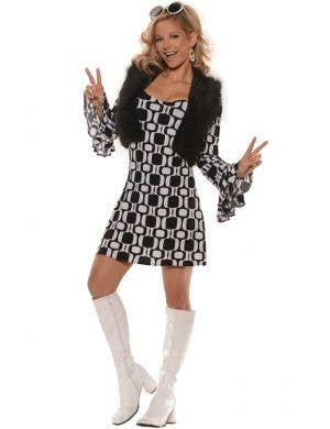 Hip 60's Mod Chick Women's Fancy Dress Costume