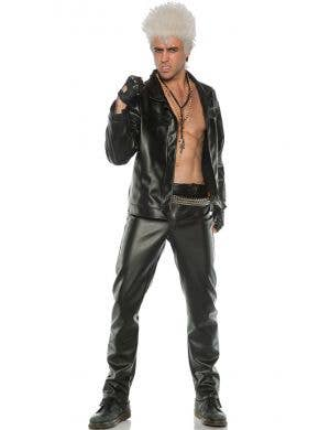 Rebel Men's Plus Size Billy Idol 90s Punk Fancy Dress Costume