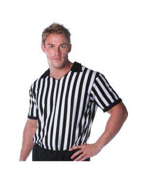 Sports Referee Men's Striped Costume Shirt