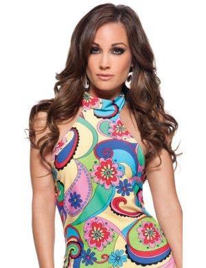 Far Out Rainbow Floral Women's Hippie Costume