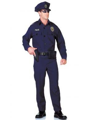 Classic Plus Size Men's Police Officer Uniform Costume