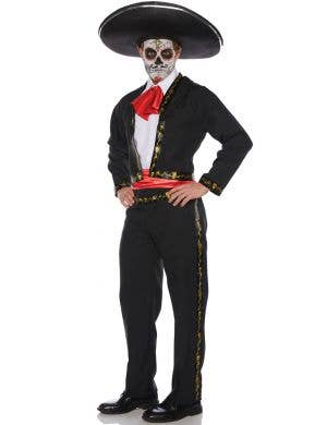 Skull Mariachi Day of the Dead Men's Plus Size Costume
