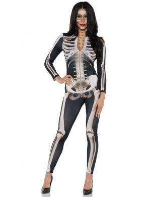 Skeleton Suit Sexy Women's Halloween Costume