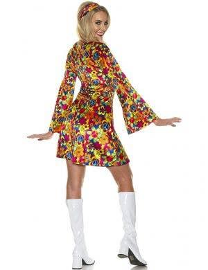 Rainbow Flower Power Hippie Child Women's Costume