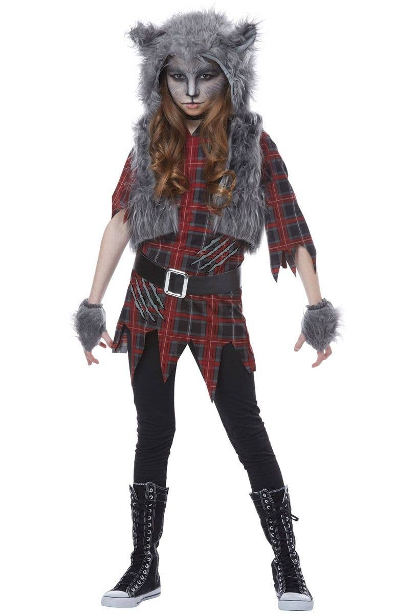 Halloween Costumes For Girls.Werewolf Girl Halloween Costume