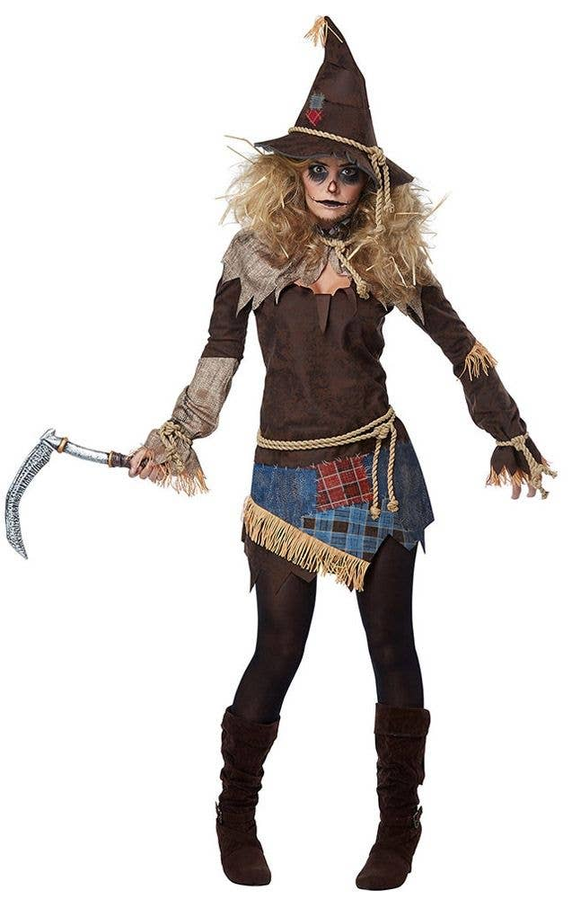 56df0ac3db1 Creepy Scarecrow Women's Fancy Dress Costume
