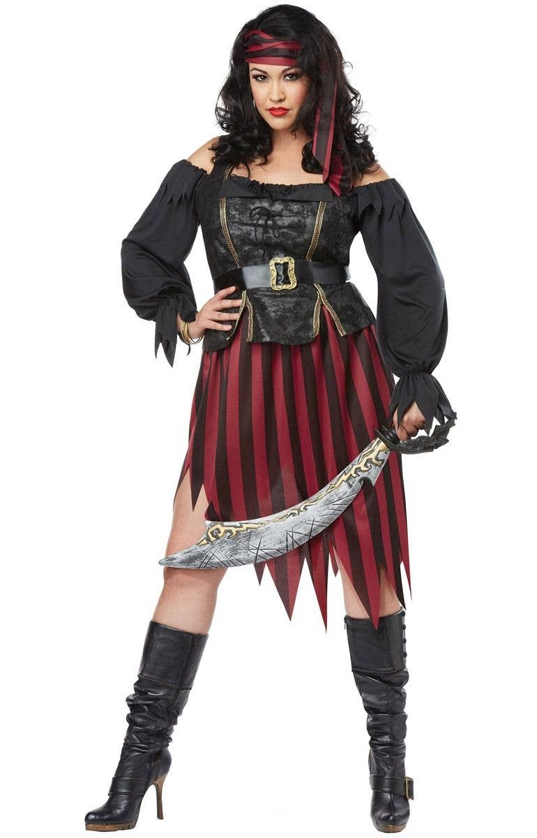 16392d8f42a Queen Of The High Seas Women s Plus Size Pirate Wench Halloween Costume
