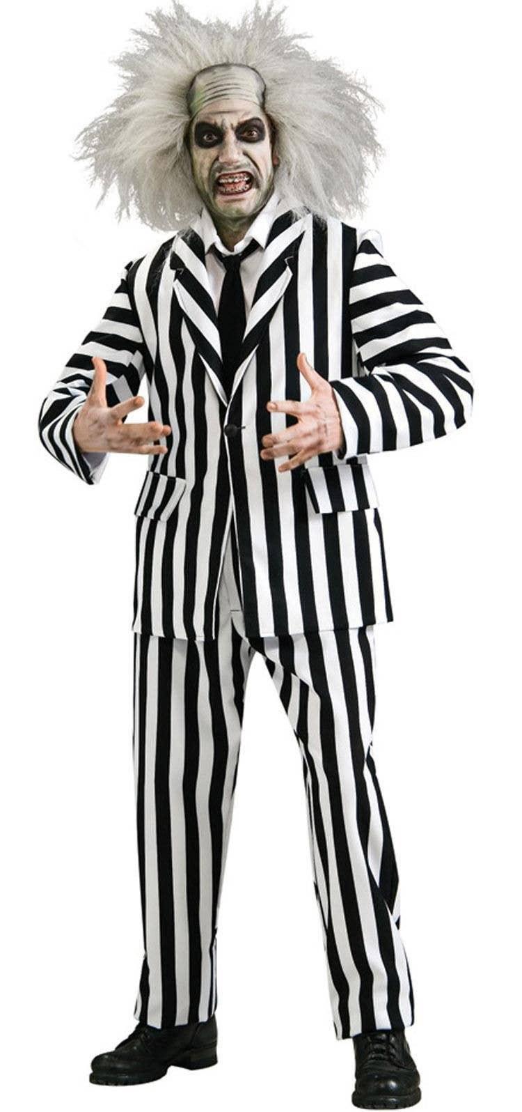 beetlejuice halloween costume | deluxe beetlejuice men's costume