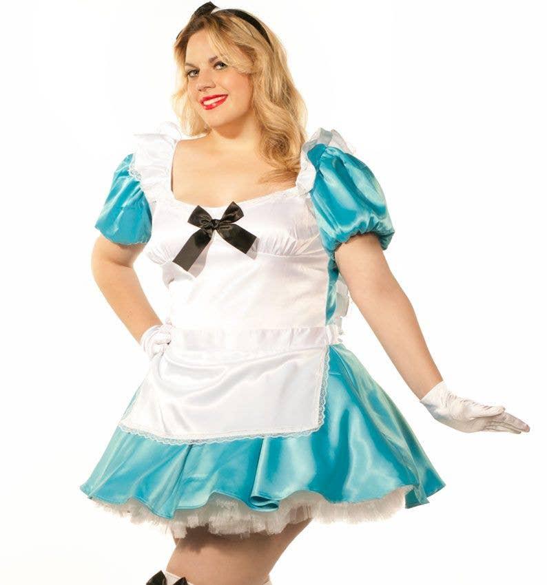 99622b39105ca Women s Plus Size Sexy Alice In Wonderland Costume Close Up View
