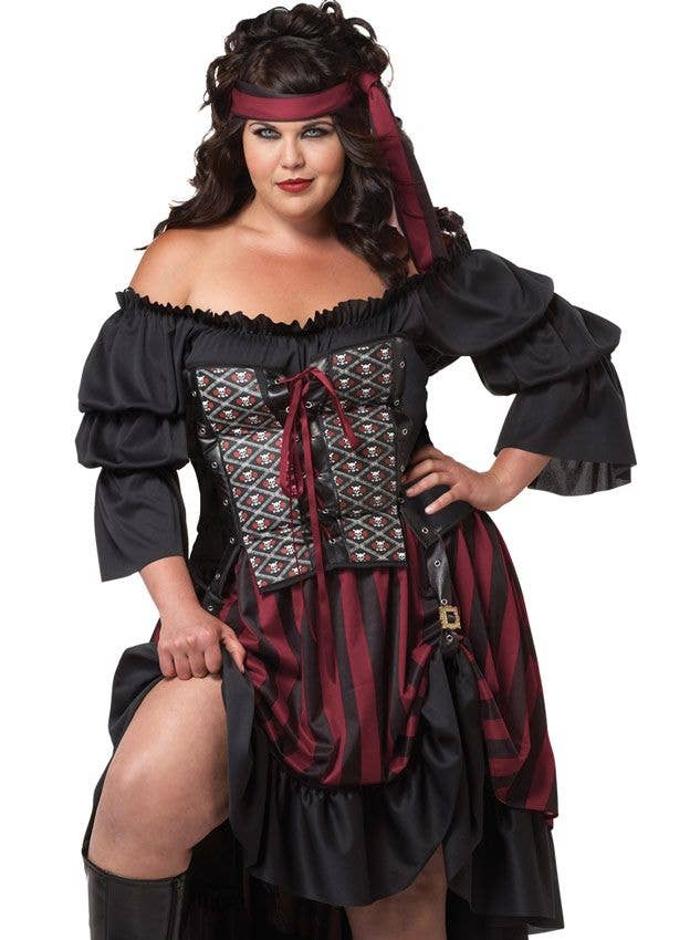 51e6bbe6e23 More Views of Plus Size Women s Pirate Wench Costume