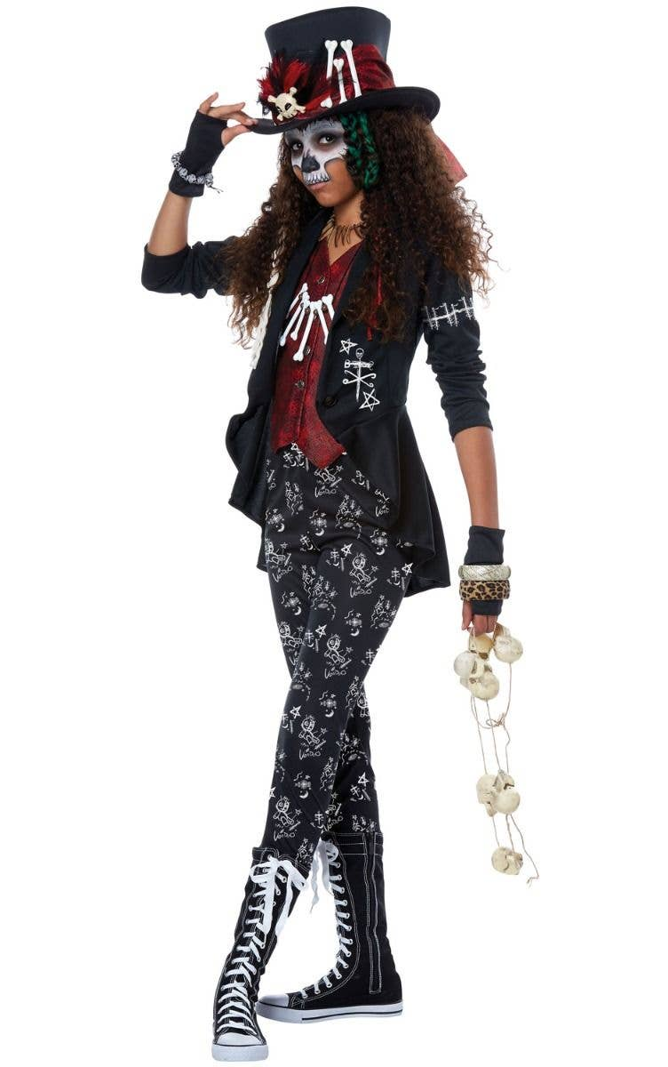 Voodoo Charm Witch Doctor Girls Tween Halloween Costume