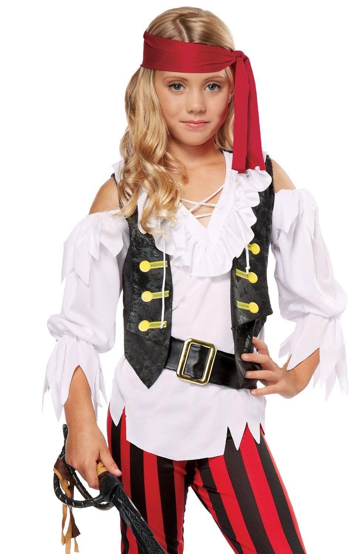 striped girls pirate costume | posh pirates kids halloween costume