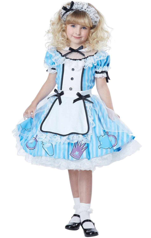 aa689ff621ce Alice In Wonderland Deluxe Girls Costume Image 1