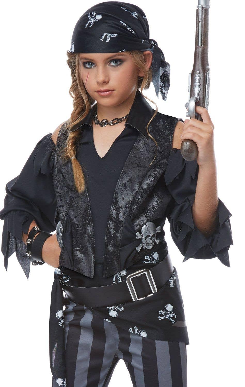 47cc9b848f5f Girls Rebel Black Pirate Costume