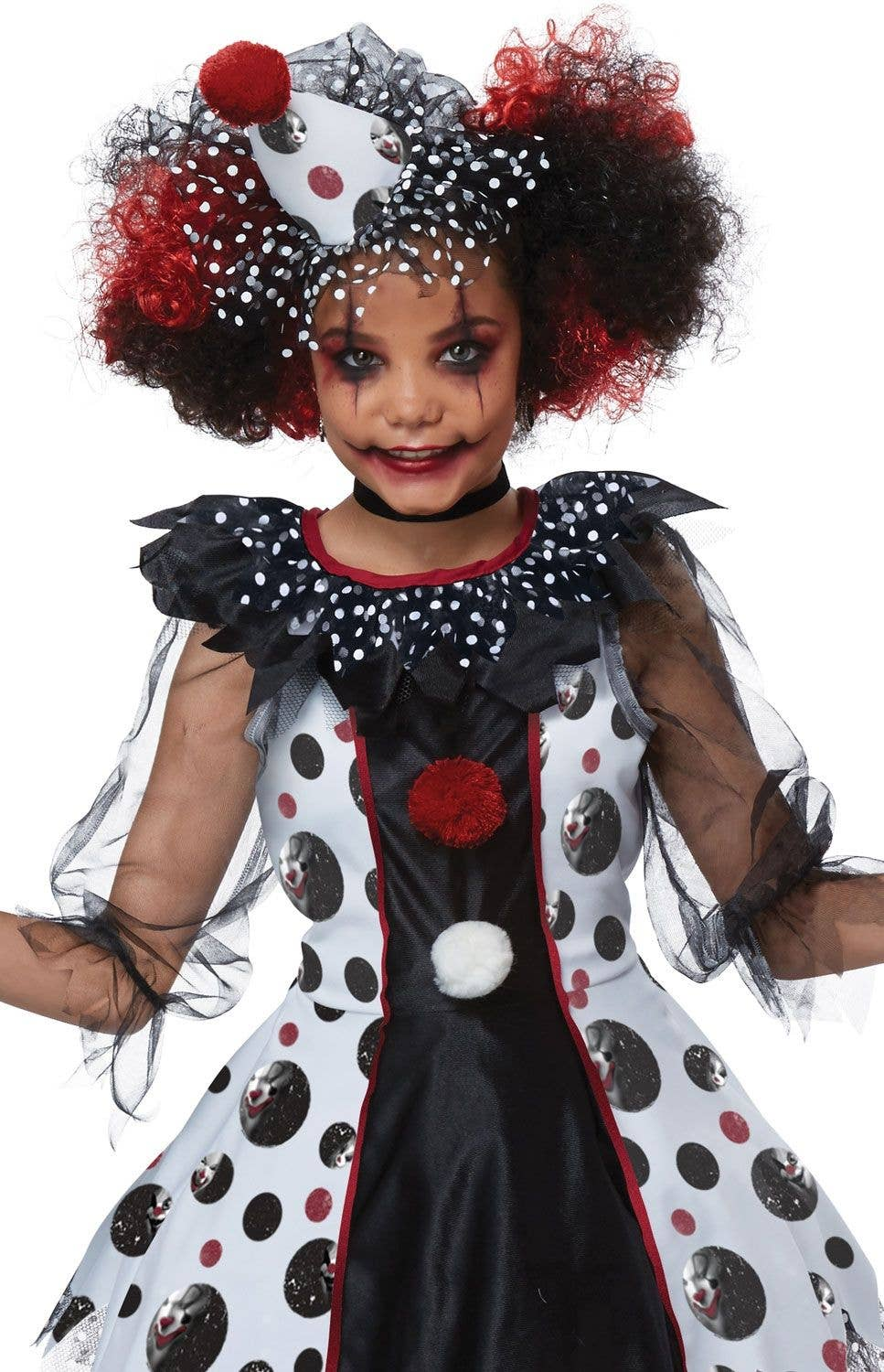 polka dots clown girls halloween costume | scary clown kids costume