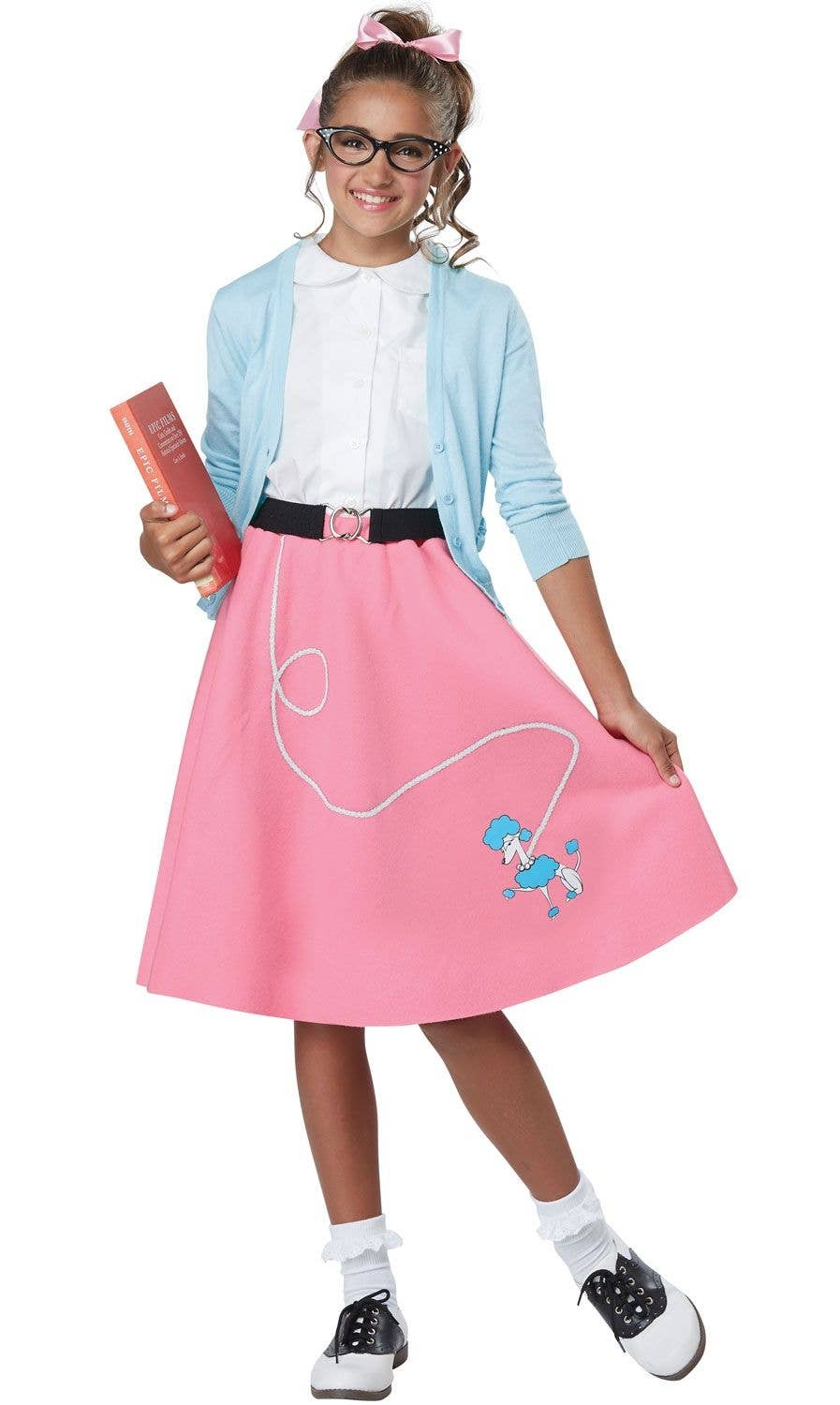 0c6a62134e1fb 1950's Poodle Skirt Girls Costume | Retro 50's Girls Outfit Costume