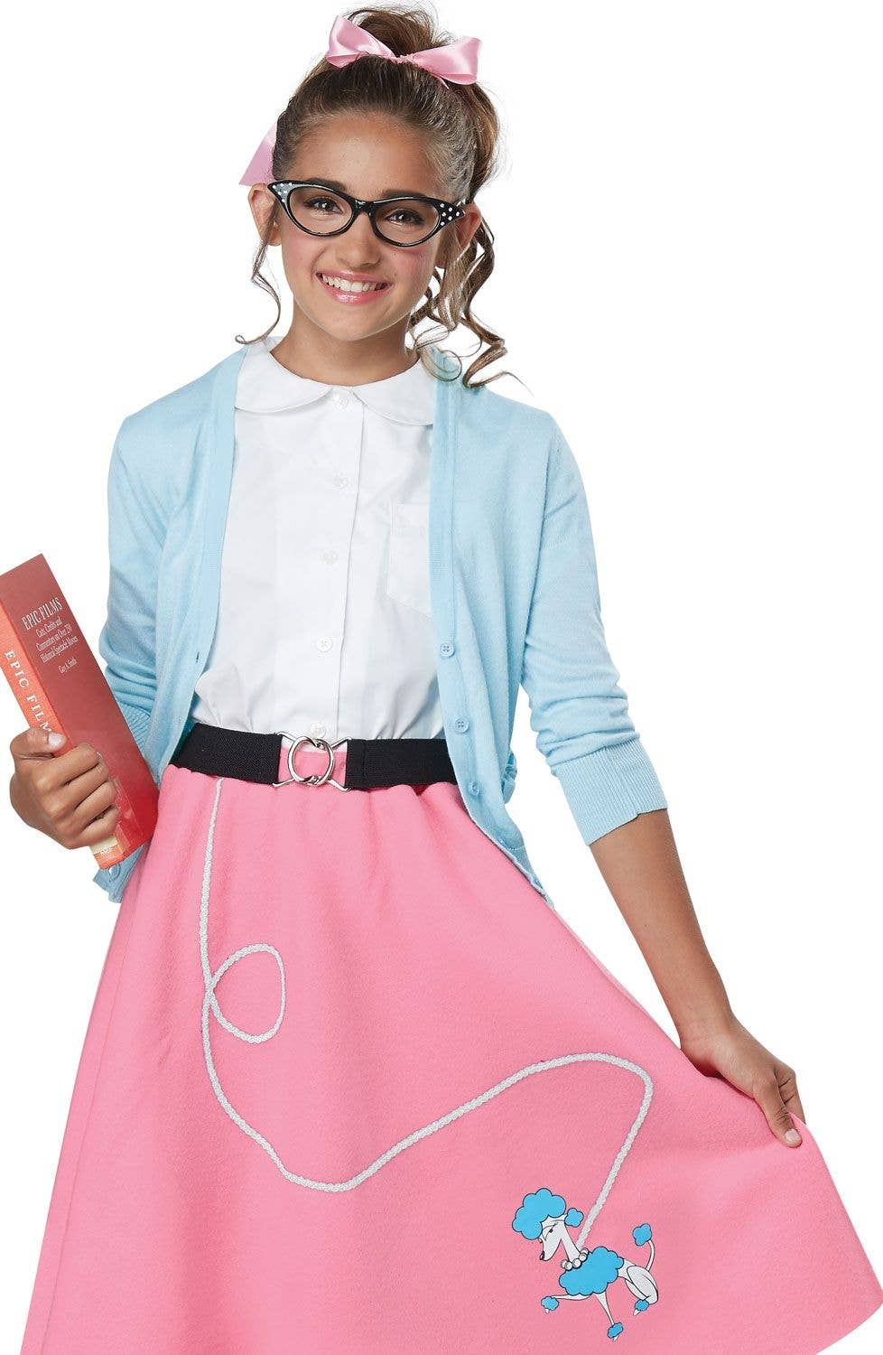 c954cab63adc 1950's Poodle Skirt Girls Costume | Retro 50's Girls Outfit Costume