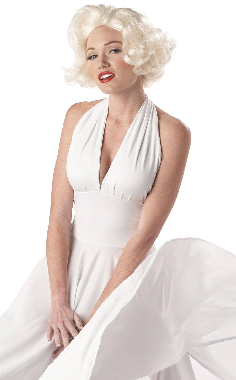 Blonde Bombshell Costume Dress   Marilyn Monroe White ...