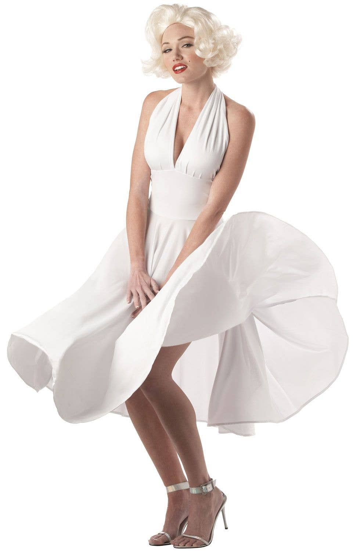 4e60f2b525 Women s Sexy Marilyn Monroe Iconic White Dress Costume Main Image