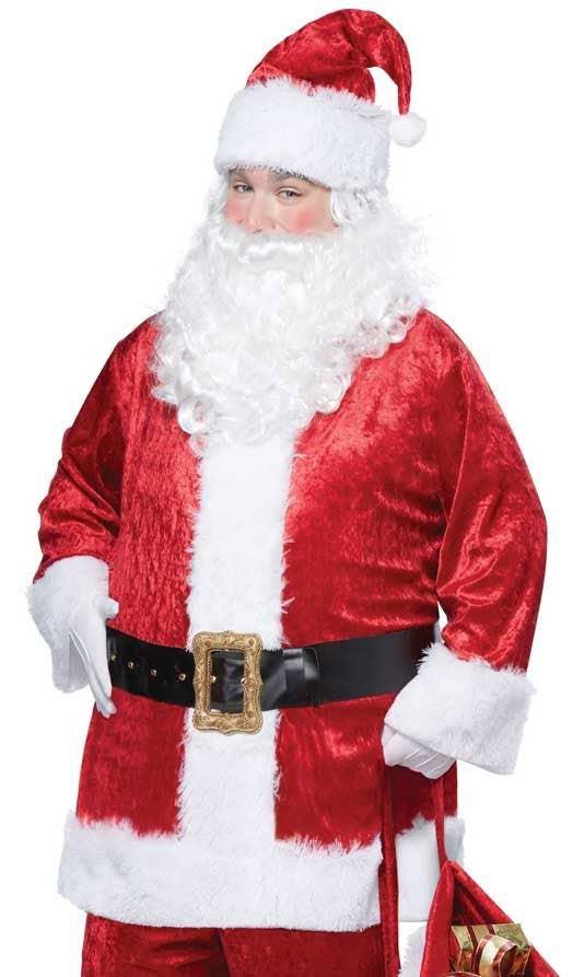 c344b0ad5fb0 Men s Classic Velvet Santa Claus Costume Close