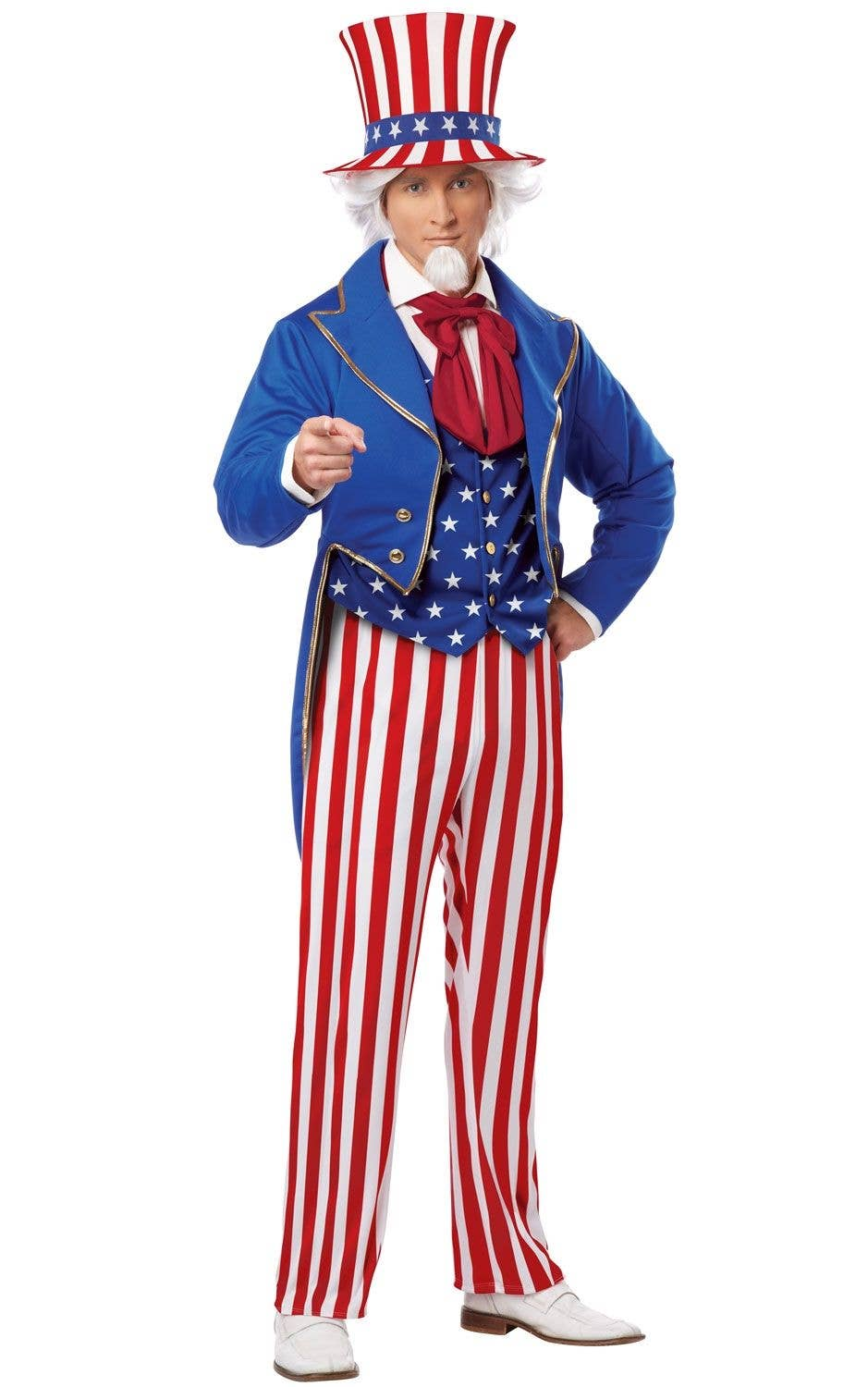 Uncle Sams Adults Costume American Symbol Mens Suit Costume