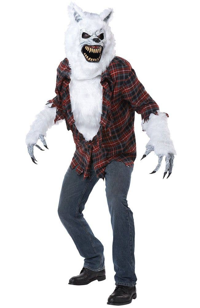 mens white lycan werewolf halloween costume main