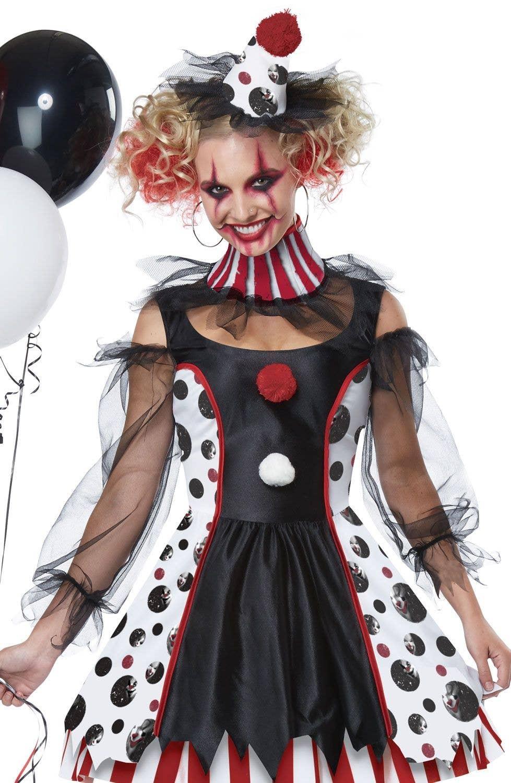 2eb0b62971f03 Twisted Clown Evil Women's Halloween Costume