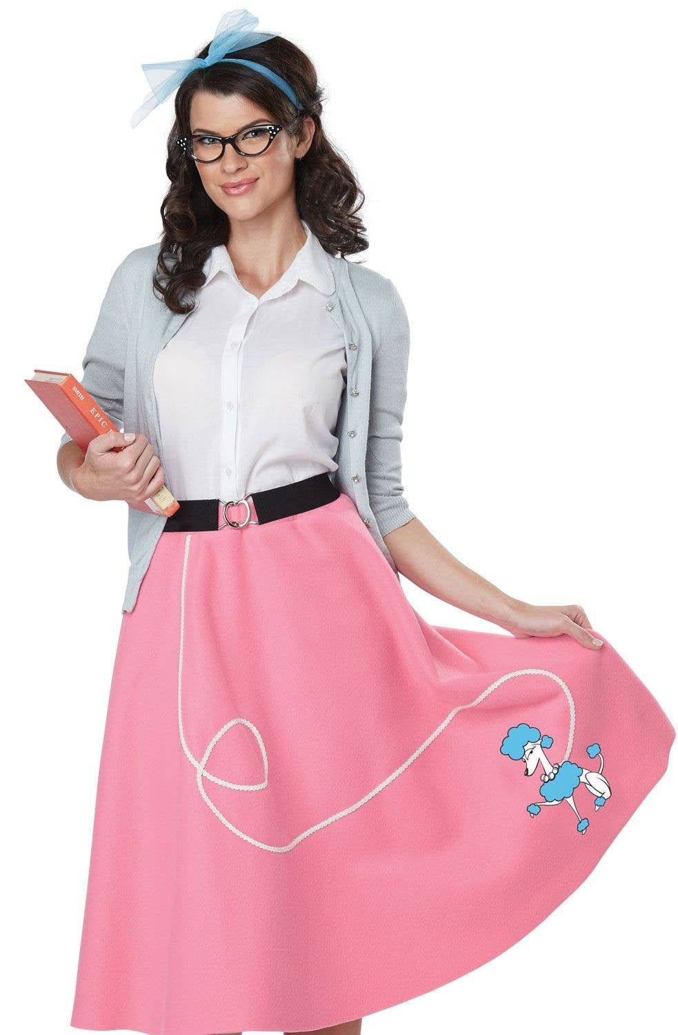 8d752e476732 Pink and White 50s Rockabilly Women s Costume Close Image