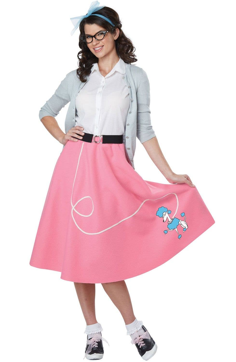 baf7a85241 Pink and White 50s Rockabilly Women s Costume Second Image