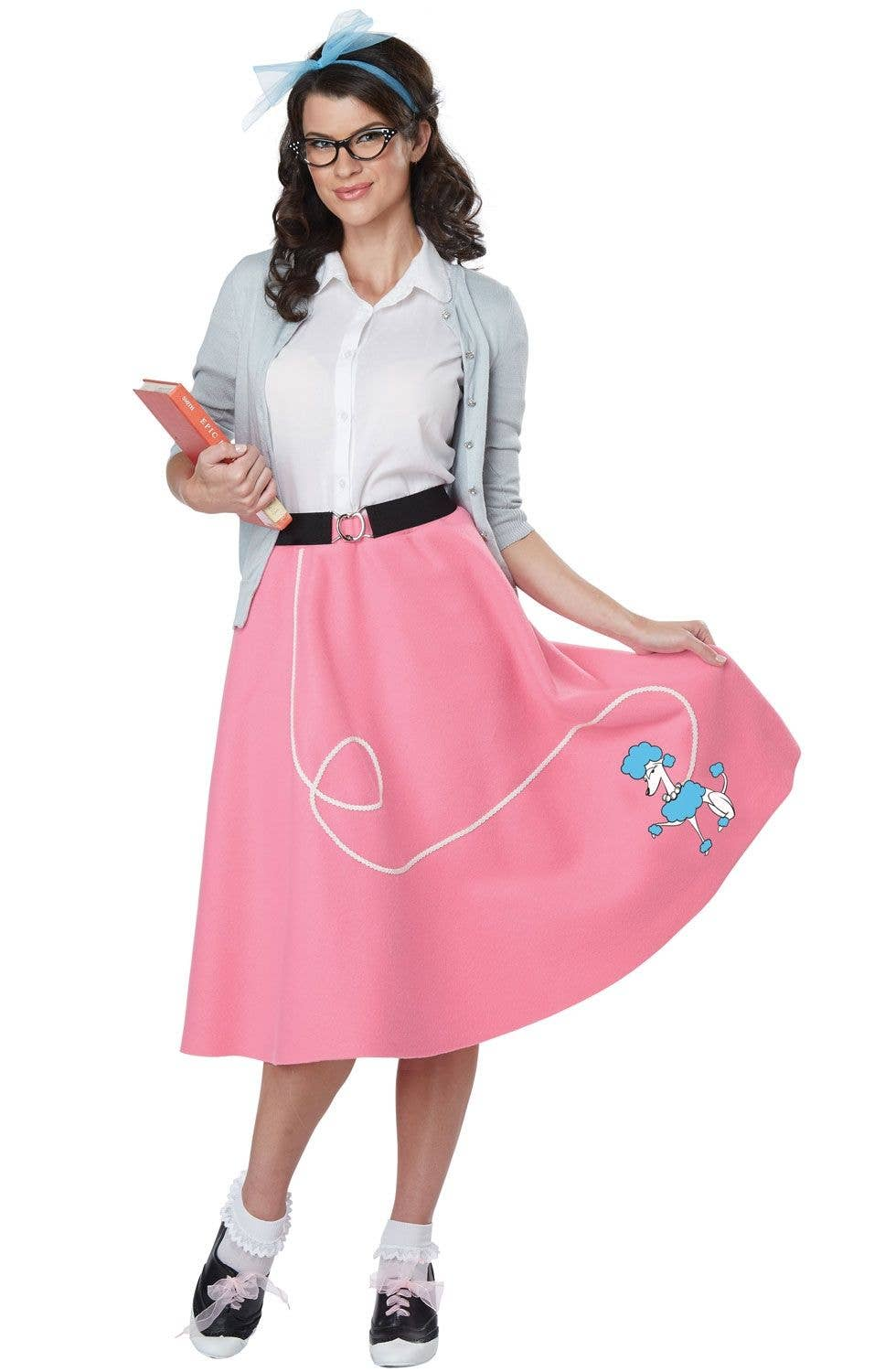 Pink and White 50s Rockabilly Women s Costume Main Image 3557887a2