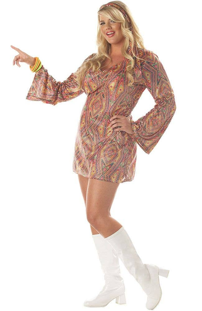 12a1a7bd91da Plus Size Disco Dress Women's Costume | 70's Disco Sexy Costume